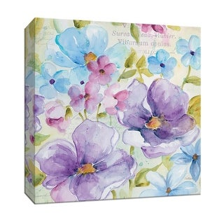 """PTM Images 9-147153  PTM Canvas Collection 12"""" x 12"""" - """"Cool Morning I"""" Giclee Flowers Art Print on Canvas"""