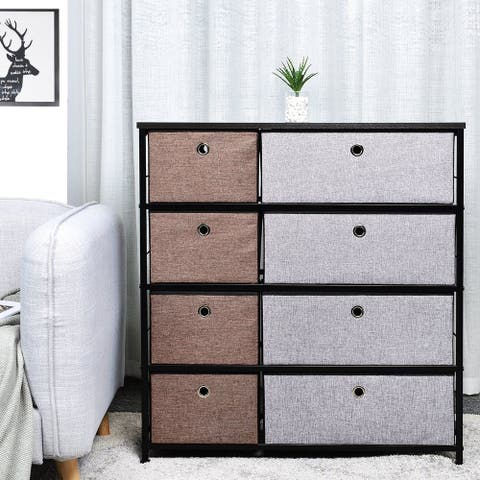 8 Drawer Fabric Storage Organizer Clothes Combo Dresser