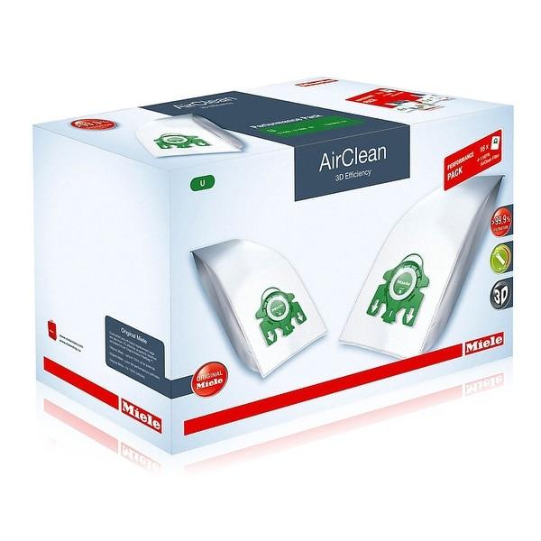 Miele Performance Pack 16 Type U AirClean 3D Efficiency FilterBags + HA30 HEPA Filter