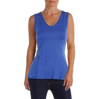 NY Collection Womens Tank Top Jersey V-Neck