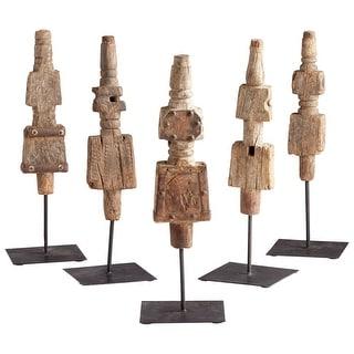 Cyan Design 08912  Rustic Todem Iron and Wood Spiritual Statue