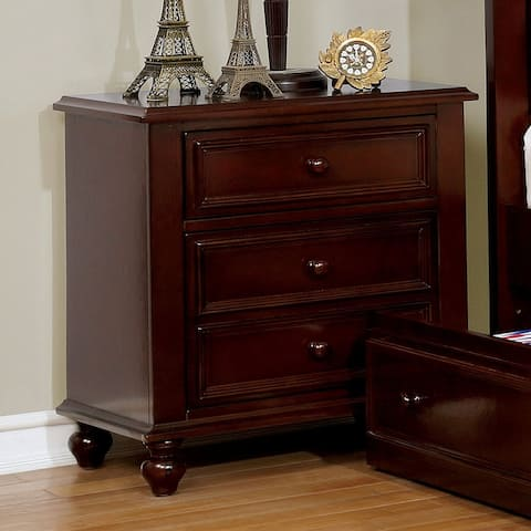 Furniture of America Dole Traditional Solid Wood Youth Nightstand