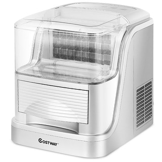 Costway Portable Electric Ice Maker Machine Compact Large Capacity 33lb/Day Countertop