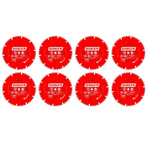 """Freud D1050X Diablo 10"""" x 50 Tooth Combination Saw Blade (8 Pack) - 10"""" x 50"""""""
