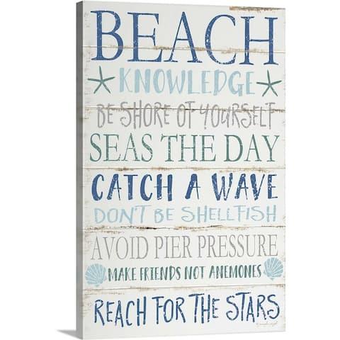 """""""Beach Knowledge"""" Canvas Wall Art"""