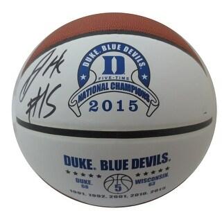Jahlil Okafor Autographed Duke Signed 2015 Champions Basketball Steiner Sports COA