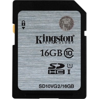 Kingston SD10VG2/16GB Kingston 16 GB SDHC - Class 10/UHS-I (U1) - 45 MB/s Read