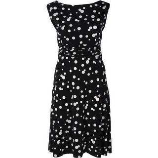 Jessica Howard Womens Plus Party Dress Polka Dot Sleeveless - 22W