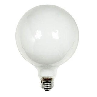GE 14187 Decorative G40 Globe Light Bulb, 60 Watts, 120 Volt
