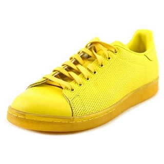 Adidas Stan Smith Men Round Toe Leather Yellow Sneakers