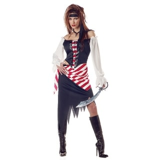 California Costumes Ruby Pirate Beauty Adult Costume - Black/Red