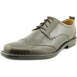 Josef Seibel Darby Men Square Toe Leather Brown Oxford
