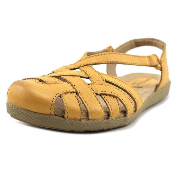 4202004904c8 Shop Earth Origins Nellie Women Open Toe Leather Yellow Sandals ...