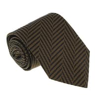 Missoni U4528 Brown/Black Chevron 100% Silk Tie - 60-3