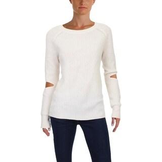 Aqua Womens Crewneck Sweater Knit Cashmere