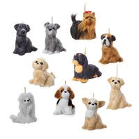 "Club Pack of 48 Assorted Puppy Dog Plush Christmas Ornaments 4"" - brown"