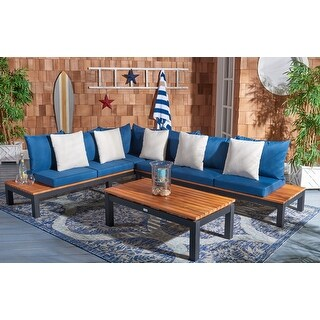 Safavieh Outdoor Living Fristal 3-Piece Patio Sectional Set