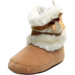 Itaar Bowknot Infant EW Round Toe Synthetic Tan Winter Boot