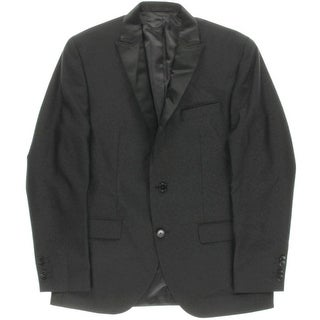 Kenneth Cole New York Mens Tuxedo Jacket Satin Trim Peak Lapel