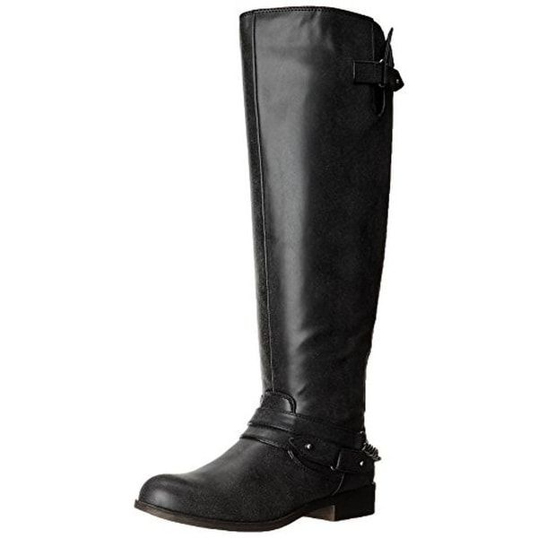 c37ea6ffc335 Shop Madden Girl Womens Canyon Riding Boots Faux Leather Wide Calf ...