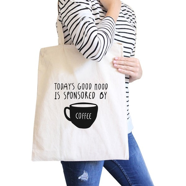 Sponsored By Coffee Natural Canvas Bags Christmas Gift For Students