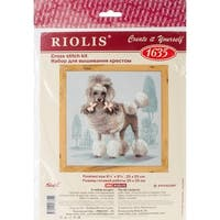 """Poodle Counted Cross Stitch Kit-9.75""""X9.75"""" 14 Count"""