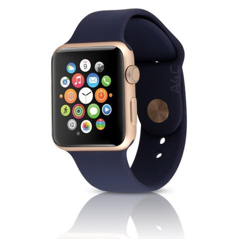 Apple Watch Series 1 38mm Gold Aluminum Case & Blue Band (Refurbished)