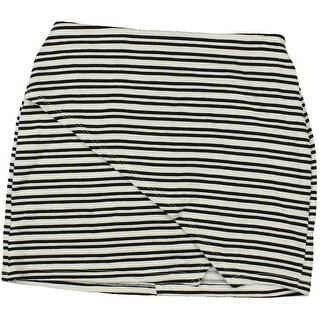 Lust N Must Womens Juniors Stretrch Striped Mini Skirt