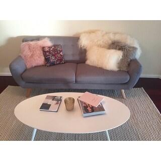 Shop Wool Mongolian Lamb Fur Throw Pillow   Free Shipping Today    Overstock.com   9412909