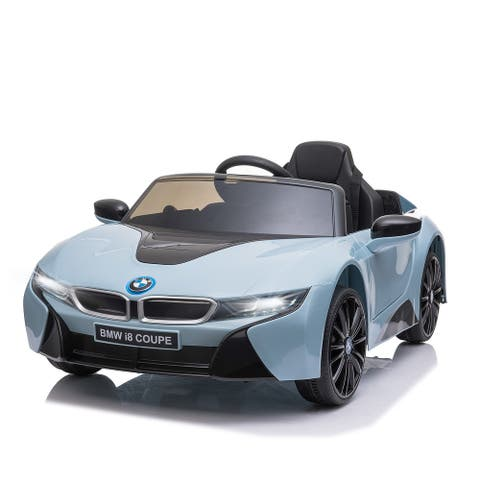 Aosom Ride-on Kids Electric Car with Secondary Remote Control & Extra Wide Safety Tires, Blue