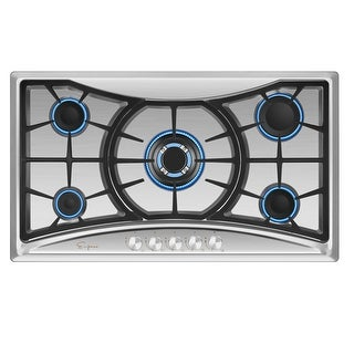 """Empava 36"""" Built-in Gas Cooktop Stainless Steel 5 Italy Sabaf Burners Stove Top"""