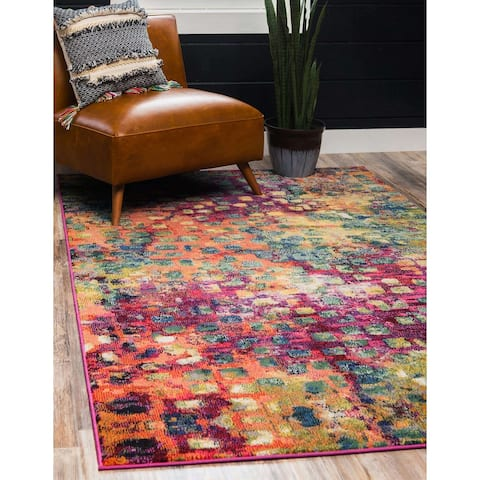 Unique Loom Ivy Jardin Modern Abstract Area Rug.