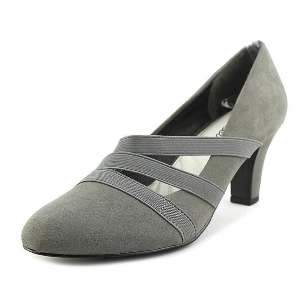 Easy Street Camillo Women Round Toe Synthetic Gray Heels