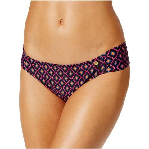 Raisins Womens Juniors Cocoa Beach Tribal Print Ruched Swim Bottom Separates