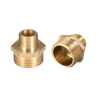"Brass Pipe Fitting Reducing Hex Nipple 3/8""x 3/4"" G Male Pipe Brass Fitting 2pcs - 3/8"" to 3/4"" G Male 2pcs"