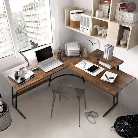 L-Shaped Desk Computer Corner Desk Office Writing Study Desk