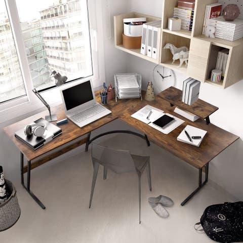 L-Shaped Desk Computer Corner Desk Office Writing Study Desk