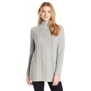 Vince Camuto Mixed Cable Knit Long Sleeve Tunic Sweater - S
