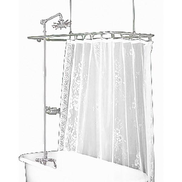 shower surround for clawfoot tub. Clawfoot Tub Shower Surround Brass Rectangula  Renovator x27 s Supply