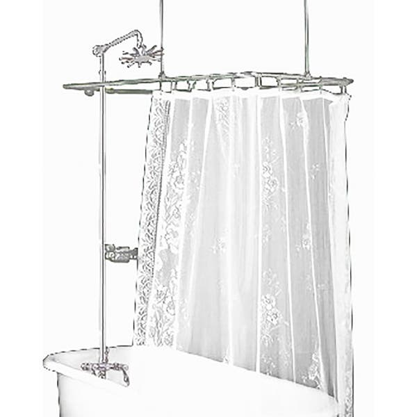 Clawfoot Tub Shower Surround.Clawfoot Tub Shower Surround Brass Rectangula Renovator S Supply