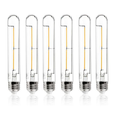 "Light Society Set of 6 Sovana T10 / 7.1"" Clear LED Filament Light Bulbs"