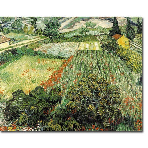Field of Poppies by Vincent Van Gogh Gallery Wrapped Canvas Giclee Art (20 in x 24 in)
