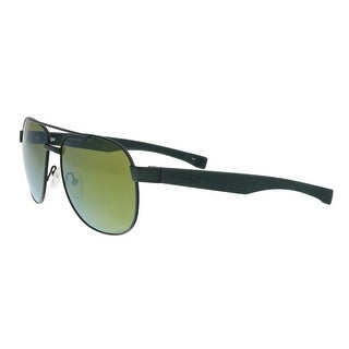 Lacoste L186S 315 Green Matte Modified Rectangle Sunglasses - 57-16-140