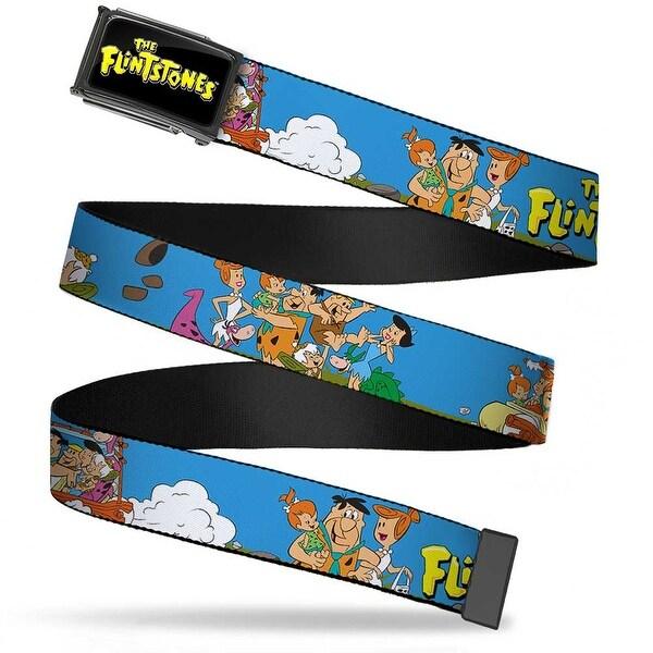 The Flintstones Logo Fcg Black Yellow Chrome The Flintstones And Web Belt