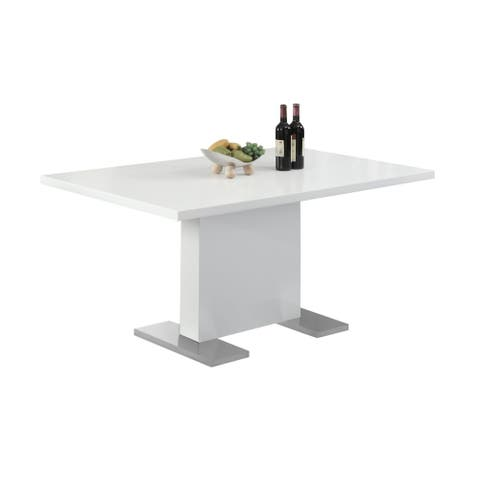 """Offex Dining Table - 35"""" x 60""""High Glossy White - Not Available"""