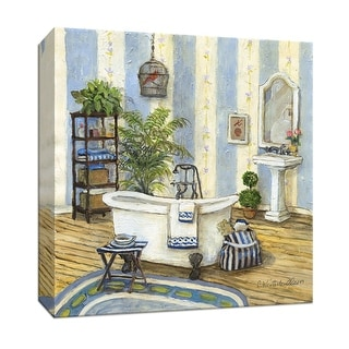 """PTM Images 9-146883  PTM Canvas Collection 12"""" x 12"""" - """"Guest Ready I"""" Giclee Bathroom Art Print on Canvas"""