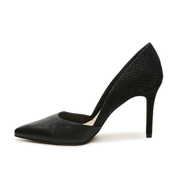 Vince Camuto Womens Airmosah Leather Pointed Toe D-orsay Pumps Black Size 7.0