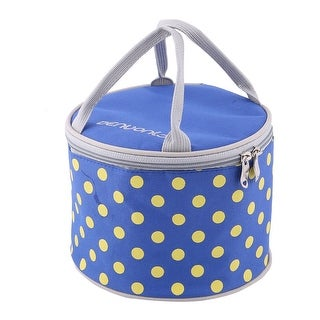 """Oxford Fabric 7.7"""" x 6"""" Insulated Lunch Storage Carry Tote Cooler Bag"""