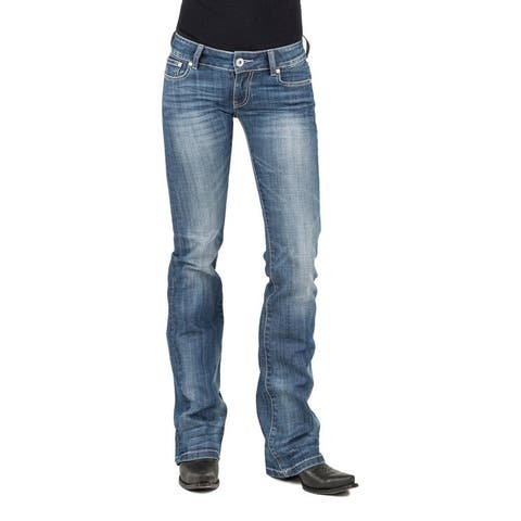 Stetson Western Denim Jeans Womens Whiskering
