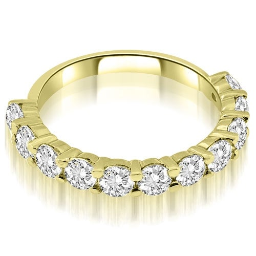1.65 cttw. 14K Yellow Gold Round Cut Diamond Wedding Band